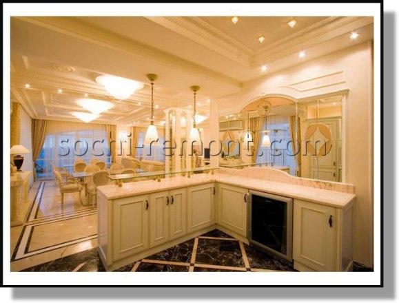 Капитальный ремонт в кухне-гостиной